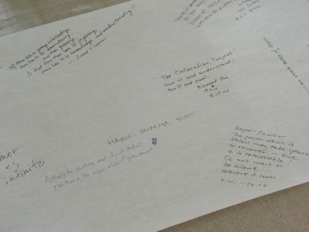 The Collaborative Scroll (Detail) © Gabrielle Senza